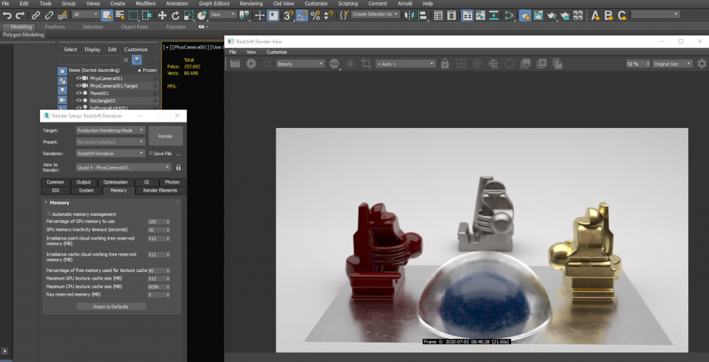 Redshift Render 3DS Max Sample Scene for Benchmark